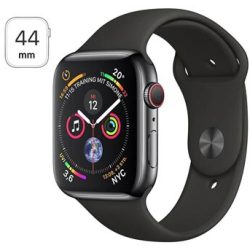 Apple Watch Series 4 LTE MTX22FD A Ruostumaton Teräskuori Urheiluranneke 44mm 16Gt Space Black