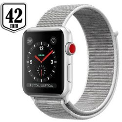 Apple Watch Series 3 LTE MQKQ2ZD A Alumiinikuori Urheiluranneke 42mm 16GB Hopea Seashell