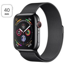Apple Watch Series 4 LTE MTVM2FD A Ruostumaton Teräskuori Milanolaisranneke 40mm 16Gt Space Black